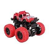 子供向けモデルカー 四輪駆動 赤ちゃんのおもちゃの車 落下に強い  360°逆回転 1-3-4-5歳のベビーカー 7X8.5X8.5CM (Color : Red)