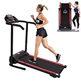 Treadmill,Treadmills for Home,Foldable Treadmill,1100W Folding Treadmill with Device Holder, Shock Absorption and Incline, Walking Running Exercise Machine for Home Use【US Spot】 (A)