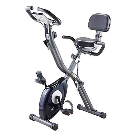 Ejercicio Inicio Bicicletas Bicicletas De Spinning Ajustables Bicicletas Plegables para Interiores Equipo Aeróbico (Color : Blue, Size : 68x41x115cm)