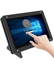 För Raspberry Pi 4-skärm, 5-tums pekskärm kapacitiv skärm, 800 x 480 pixlar bärbar skärm med akrylfodral