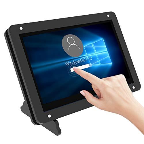 Für Raspberry Pi 4 Bildschirm, kapazitives 5 Zoll Touchscreen Display, tragbarer 800 x 480 Pixel Monitor mit Acrylgehäuse