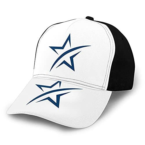 YooHome A Lone Star Snapback Hat ajustable Running Sports Travel Cap regalo para amantes, familiares, amigos y colegas, negro