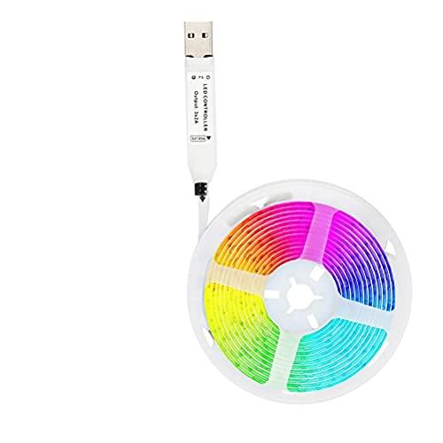 Holmeey Tira de LED, 5050 RGB USB multicolor TV LED tira, TV retroiluminación LED, iluminación LED para dormitorio TV hogar gabinete decoración
