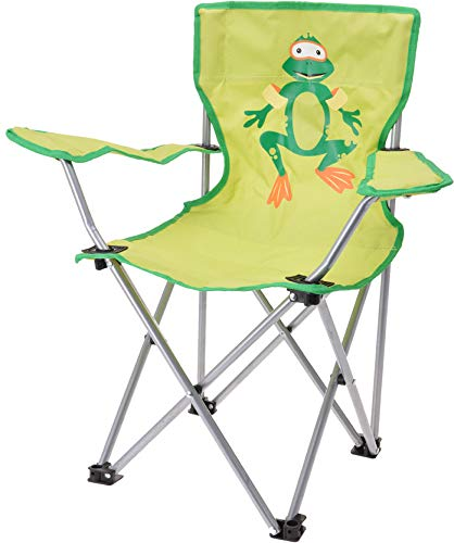 matrasa Campingstuhl für Kinder - Klappstuhl Strandstuhl Gartenstuhl Kinderstuhl - Frosch (Grün)