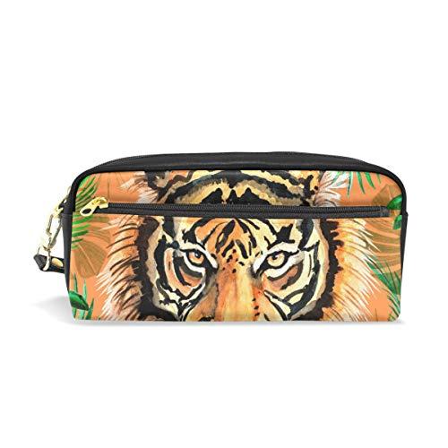Estuche de lápices Titulares de gran capacidad Jungle Tiger Pen Papelería Bolsa con cremallera