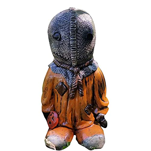 LEFUYAN Zumbi Membro da família Filme de terror Gnomos mortos-vivos Escultura de Halloween para pátio, quintal, gramado, varanda, decoração de presente