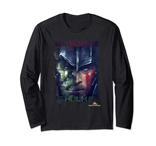Marvel Thor: Ragnarok Thor And Hulk Split Face Poster Langarmshirt