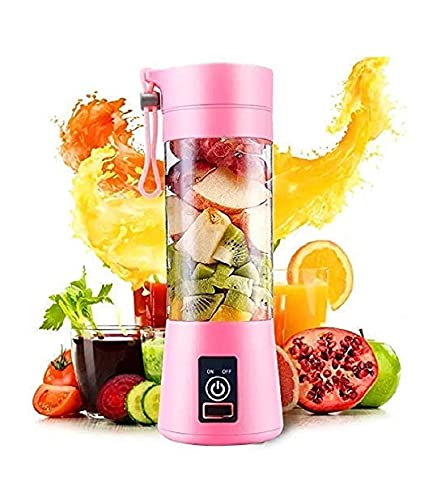 Rukh diya enterprise Rechargeable Portable Travel Electric Mini USB Juicer Bottle Blender for Making Juice, Shake, Smoothies for All Fruits and Vegetables - multicolour