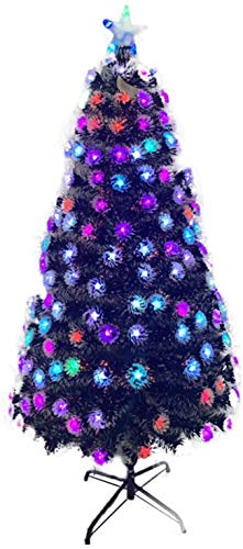 ZRONGQF Easy Treezy Christmas Tree Artificial Fiber Optic Christmas Tree Pre-Bed Multicolor Led Light with Metal Stand, Eco-Friendly Christmas Pine for Fireplace Party Home 1111 (Size : 90cm/3ft)