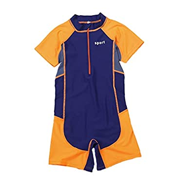 Fine Kids Wetsuit,2mm Neoprene Thermal Swimsuit,Long Sleeve Kids Wet Suits for Swimming Scuba Diving,Full Wetsuit for Girls Boys and Toddler (Orange, XXL)