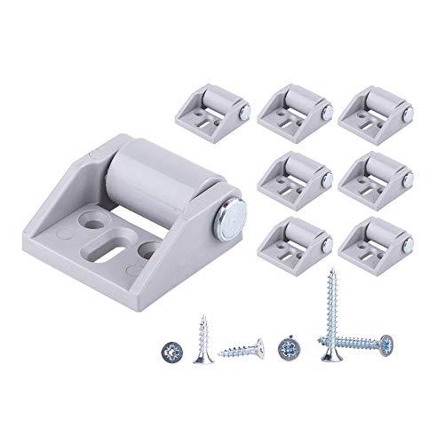 (Confezione da 8) Ruote in plastica con ruote in gomma da solo 16 mm con viti a piastra Set di ruote per piccoli elettrodomestici e attrezzature per mobili
