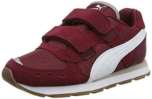 Puma Unisex-Kinder Vista V PS Sneaker, Rot (Cordovan-Puma White/03), 31 EU