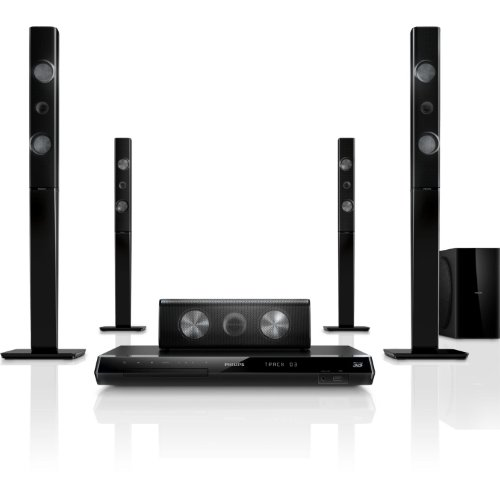 Philips HTB7590D/12 5.1 Heimkinosystem mit 3D-Lautsprechern (Full HD, 3D Blu-ray, Apple Dock, 1000 Watt) schwarz