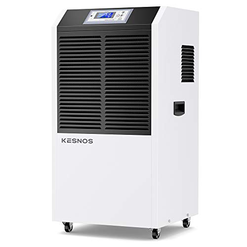 Kesnos 232 Pint Commercial Dehumidifier for Basements with Drain Hose in Area up to 8000 Sq. Ft, Large Industrial Dehumidifier for Moisture Removal