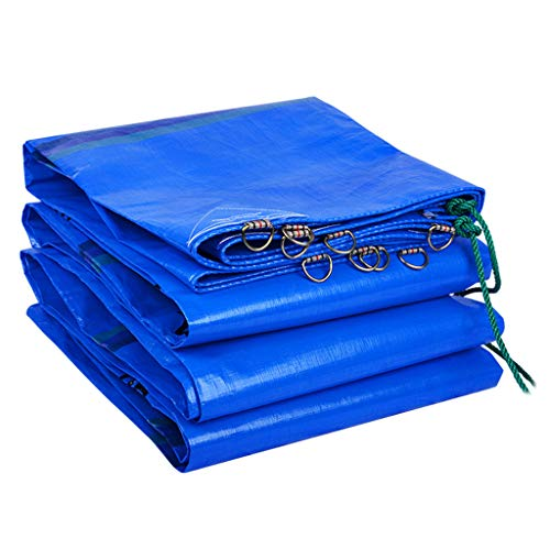 ZZR Multi-Purpose Tarp Cover Heavy Duty 240g/m² Thick Material, Waterproof, Great for Tarpaulin Canopy Tent, Boat, RV or Pool Cover 18 Sizes