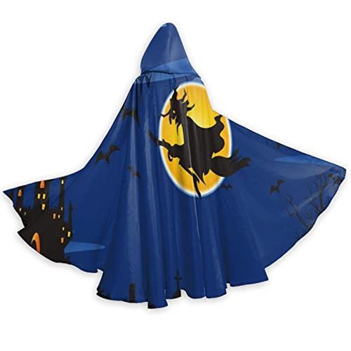 zsst Capa de cosplay con capucha Halloween Bruja traje para Halloween adulto hombres mujeres