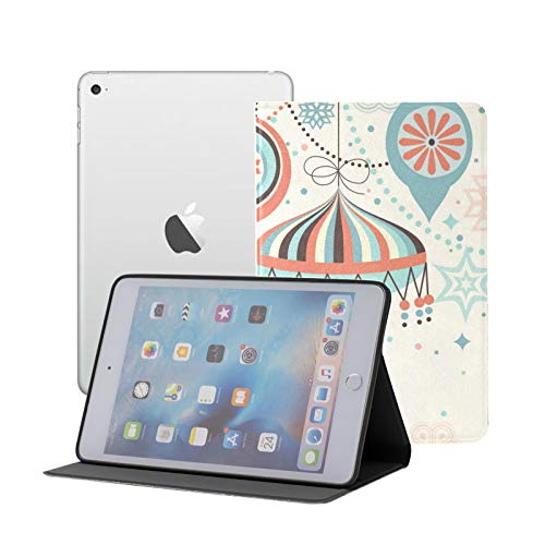 Ipad Mini 1 2 3 Case,slim Lightweight Stand Smart Back Case For Ipad Mini, Mini 2, Mini 3 With Auto Sleep/wake,Christmas Vintage Card With Baubles