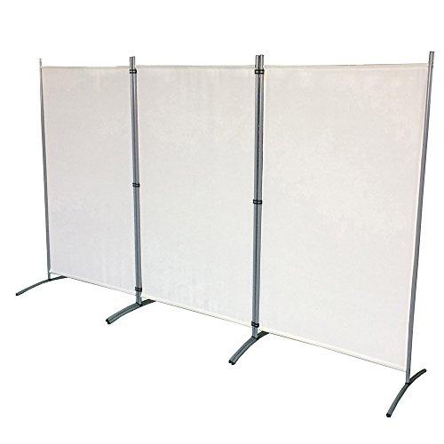 SAILUN® Paravent 260x180cm Raumteiler Sichtschutz Blickdicht Stellwand Trennwand aus Stoff Raumteiler (260cm x 180cm, Beige)