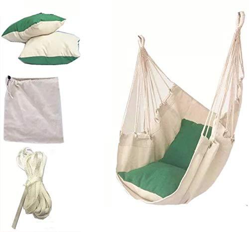 Zcm Hängesessel Tragbare Reise-Camping Hanging Hammock Startseite Schlafzimmer Schaukelbett Faule Stuhl for Garten Indoor Outdoor Modische Hammock Swings (Color : Blue)