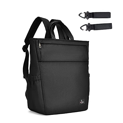 Diaper Bag Backpack, Yakuss Baby Diaper Bag for Boys & Girls, Small Diaper Bag Backpack Maternity Baby Changing Bag Travel Backpack, Waterproof, Stylish, and Lightweight, Black
