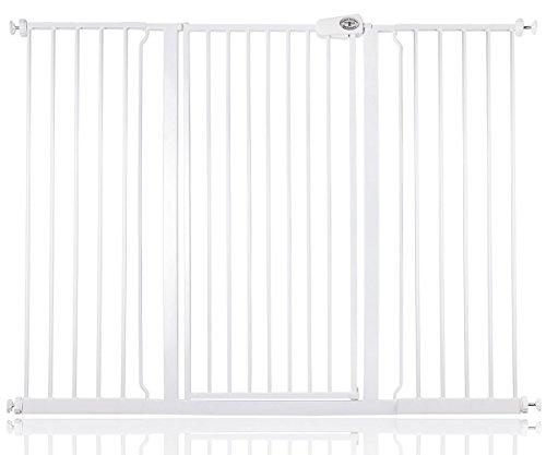 Bettacare barrière d'escalier enfant et animal de compagnie 75cm - 147.8cm (140cm - 147cm, Blanc)