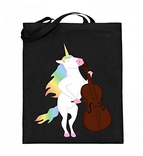Chorchester Para todos los fans de unicornio y violonchelo. Bolsa de yute (con asas largas).
