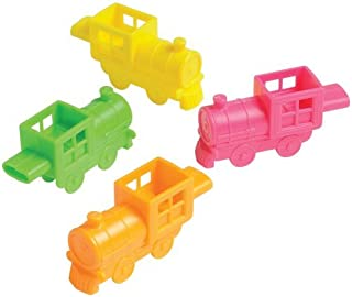 J&J's ToyScape Plastic Train Toy Whistles (Pack of 36) Perfect for Birthday Party Favors, Kid's Game Prizes, Giveaways, Goody Bag Fillers