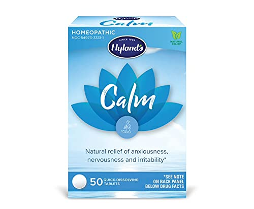 Hyland s Calm Tablets  Anxiety and Stress Relief Supplement  Natural Relief of Anxiousness  Nervousness  and Irritability  50 count
