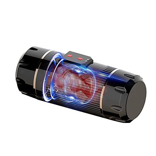 Massaggiatore elettrico da uomo, esperienza simulata a doppio canale, modalità a 10 velocità a doppio motore, ricarica magnetica USB