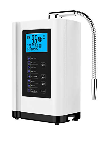AlkaDrops Water Ionizer, Water Purifier Machine PH 3.5-10.5 Alkaline Acid Water Machine,Up to -500mV ORP, 6000 Liters Per Filter,7 Water Settings,Auto-Cleaning,Intelligent Voice