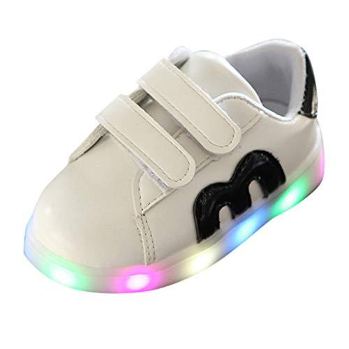 HOMEBABY Kinderen Baby Jongens Meisjes Light Up Trainers Running Sport Sneaker, Peuter Unisex Kids Ademende LED Lichtgevende Sneakers Casual Led Light Schoenen