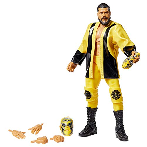 WWE Andrade Elite Series #74 Deluxe Action Figure with Realistic Facial Detailing, Iconic Ring Gear & Accessories