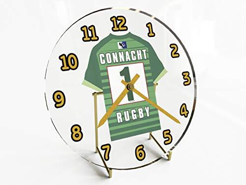 MyShirt123 Guinness Pro 12Schreibtischuhren mitRugby-Union-Jersey-Design, personalisierbar, damen, Connacht Rugby