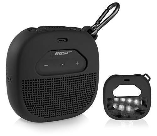 Silicone Cover Sleeve for Bose SoundLink Micro Portable Outdoor Speaker, Customized Design Skin Giving All 6 Directions Protection, Best Matching in Shape and Color(Black)