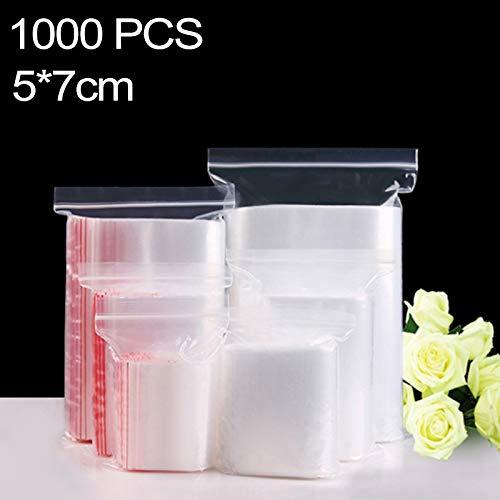 Opslag zakken diepvrieszakken Robuust en duurzaam 1000 PCS 5cm x 7cm PE zelfdichtende Clear zip-lock Verpakking, Zelf bedrukken en grootte zijn welkom herbruikbare zakken voedsel herbruikbare tas