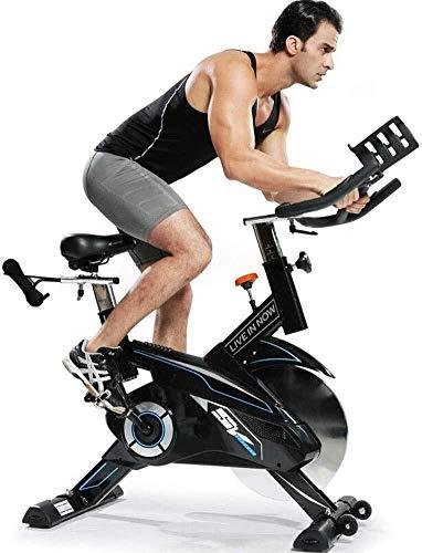 BXU-BG Correa de bicicleta estacionaria para interiores y ciclismo de 20 kg, volante y sensor/monitor LCD/para montaje en iPad con manillar ajustable para entrenamiento cardiovascular en casa