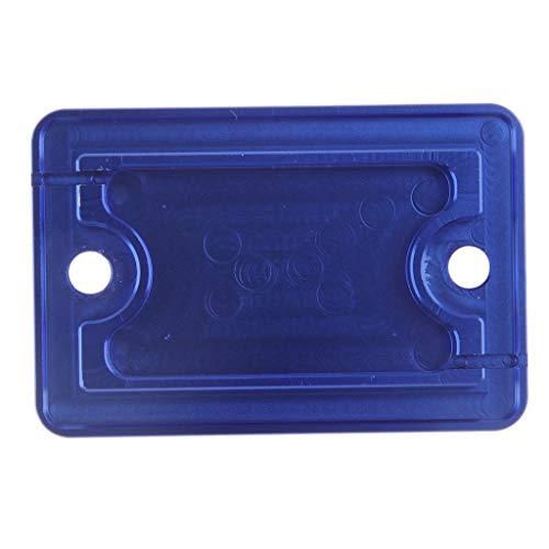 IPOTCH 1 Stück Bremsflüssigkeits behälter Deckel Motorräder, Ersatzteile und Zubehör Rahmen und Anbauteile Sturzschutz - Blau