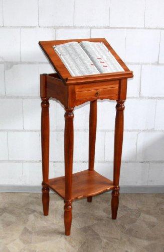 Casa Massivholz Rednerpult Stehtisch Schreibpult Lesepult Laptoptisch Notenständer kirschfarben
