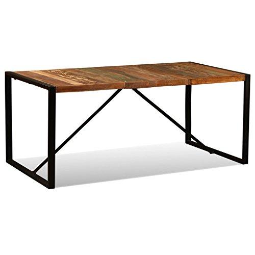 vidaXL Mesa Comedor 180 cm Madera Reciclada Mueble Mobiliario Cocina Auxiliar