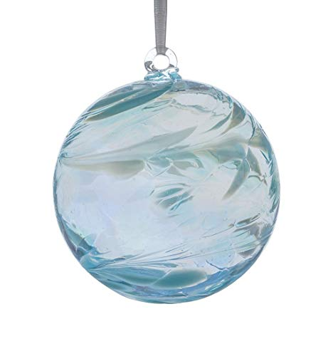 Sienna Glass BB10MAR March Birthstone Friendship Ball, Aquamarine