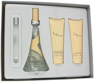 Nude by Rihanna by Rihanna Gift Set - 3.4 oz Eau De Parfum Spray + 3 oz Body Lotion + 3 oz Shower Gel + .33 oz Mini EDP Sp...