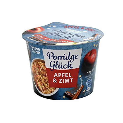 Heisse Tasse Porridge Glück Apfel, Zimt im 1 Portions-Becher, 8er Pack (8 x 54 g)