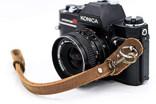 skaard Kamera Handschlaufe ⎪Vintage Leder   Schnellverschluss   Kameragurt