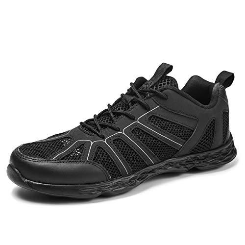 Chaussures de Course sur Route pour Hommes Baskets légères Sports Gym Marche Jogging Marche Fitness Sneakers d'extérieur Taille 40-50, Noir,50 EU