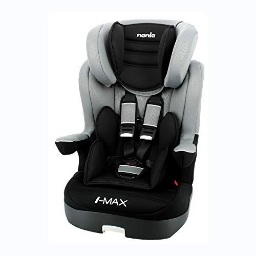 Siège auto IMAX groupe 1/2/3 (9-36kg) avec protection latérale et têtière réglable - Nania gris