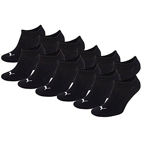 Puma Sneaker-Socken, unsichtbar, 12Stück, Schwarz , 35 / 38 -12 Paar