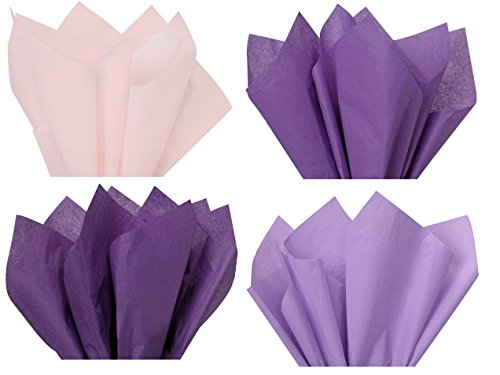 'Purple Mix 1 - Gift Wrapping Tissue Paper - 96 Sheets 15' x 20' by A1 Bakey Supplies Made in USA