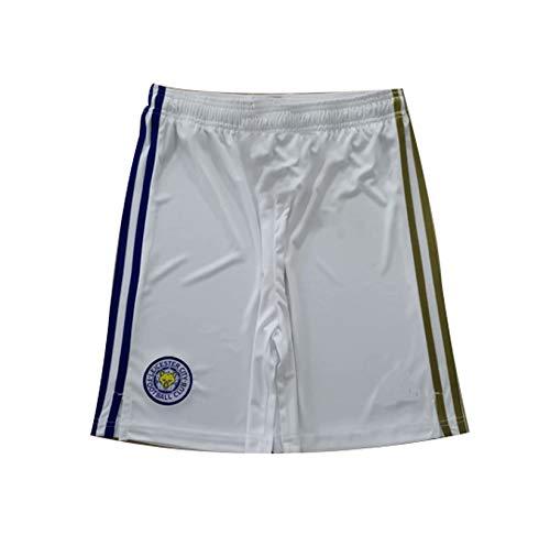 YHDQ Leicester City 20/21 Stagione Home Court Away Game Pantaloncini da calcio, adatti per uso quotidiano e allenamento calcio regalo bianco L