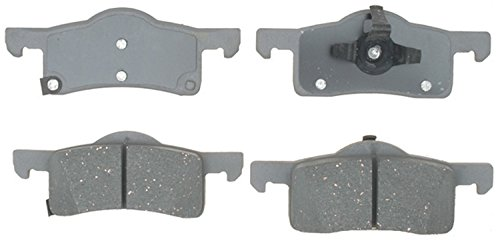 ACDelco Silver 14D935C Ceramic Rear Disc Brake Pad Set with Wear Sensor