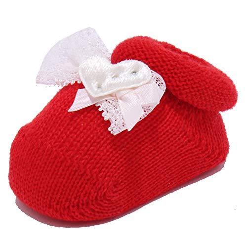 CATYA 3210Y scarpine Lana Bimba Girl Wool Newborn Shoe red [ONE Size]